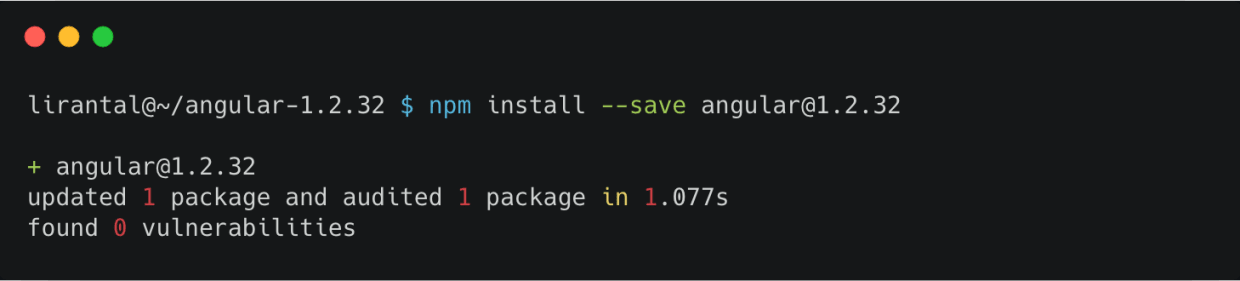 For instance, npm audit, which is bundled by default with npm client, unfortunately misses all twenty three Angular v1.x vulnerabilities and all React vulnerabilities, and so relying on npm audit can provide developers with a false sense of confidence.