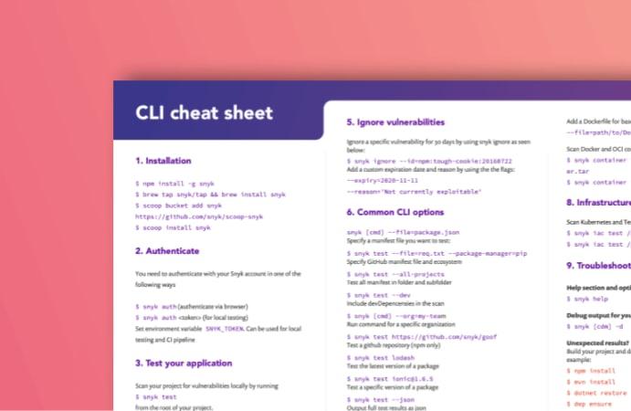 CLI cheatsheet