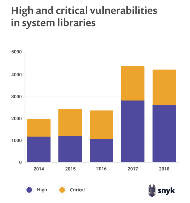 High and critical vulnerabilities in system libraries