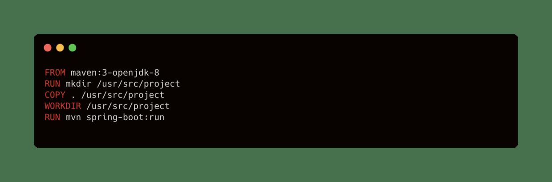 naive docker image build for java