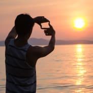 Filmmaker frames shot on MTB trail