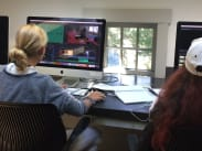 students learn Adobe Premiere