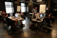 photo students learn lightroom at summer camp