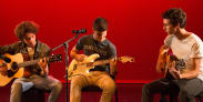 Boy Band Guitar Singer-Songwriters Jam On-Stage