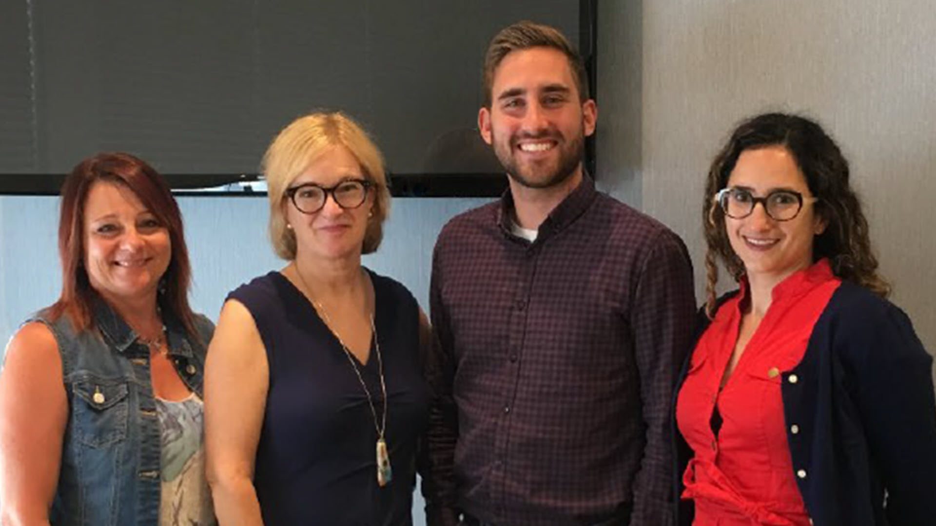 Members of Family First Family Health Team's mental health team who were recognized by the Association of Family Health Teams of Ontario with a Bright Lights award for their contributions in increasing access to psychotherapy services