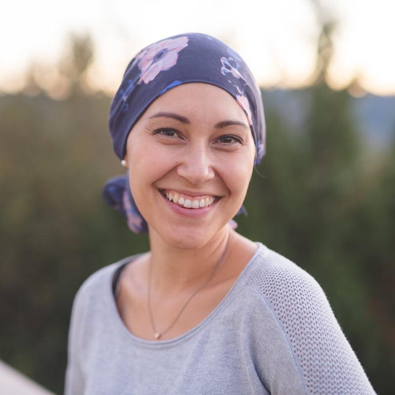 Woman with serious illness enjoying time outdoors