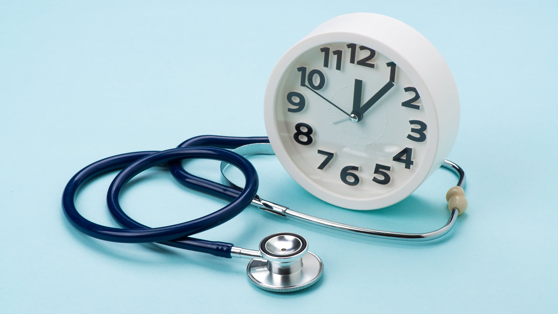 Clock and a stethoscope