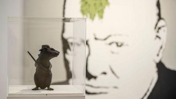 Les oeuvres de Banksy dans une galerie londonienne