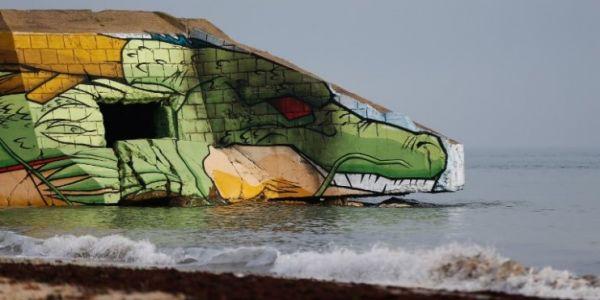 Dragon Ball sur la plage de Réville en Normandie