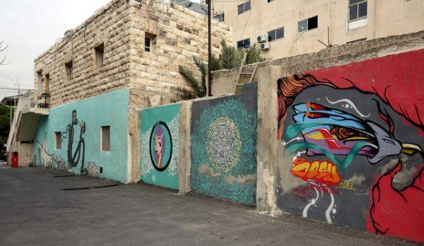 Le street-art se fait sa place à Amman en Jordanie