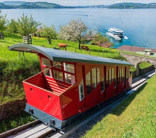 Catamaran hybride + funiculaire panoramique, le nouveau transfert évènementiel vers le resort Bürgenstock