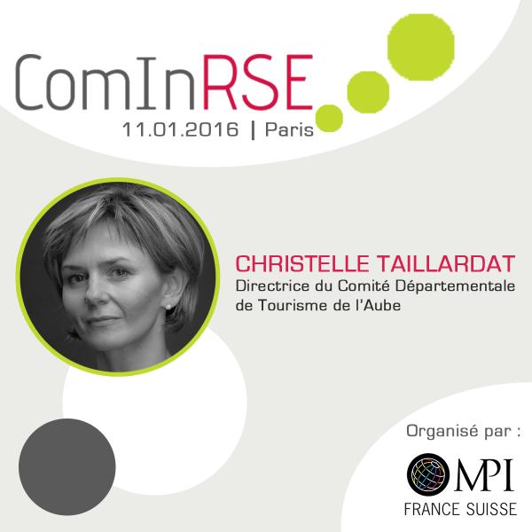 Rencontre avec Christelle Taillardat, Directrice du CDT de l'Aube et intervenante à ComInRSE