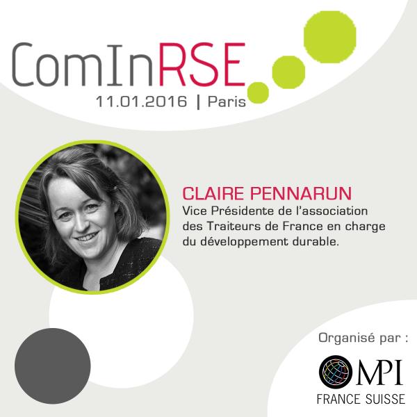 Efficacité de l'ISO 20121, Claire Pennarun, Vice Présidente des Traiteurs de France, témoigne