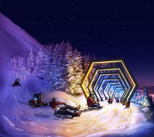Light Ride, une sorte de Mario Kart de la luge installée à Lenzerheide