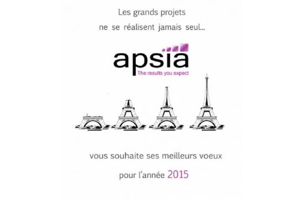 Apsia et toute son équipe vous présentent leurs meilleurs vœux pour 2015 !