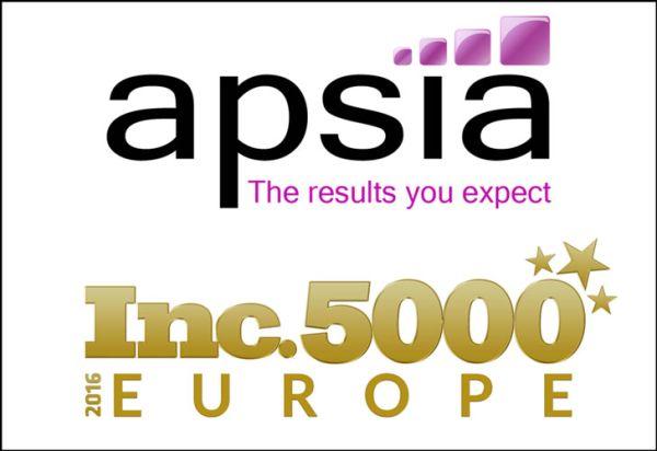 Apsia fait son entrée dans le classement Inc.5000 Europe