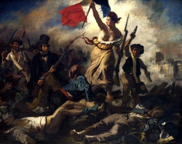 Aujourd'hui, jour de grève, on revient sur la célèbre tabeau de Delacroix : La liberté guidant le peuple