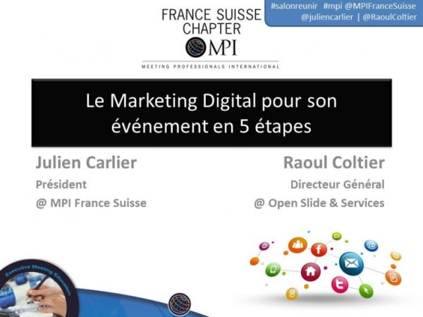 Le marketing digital pour les événements