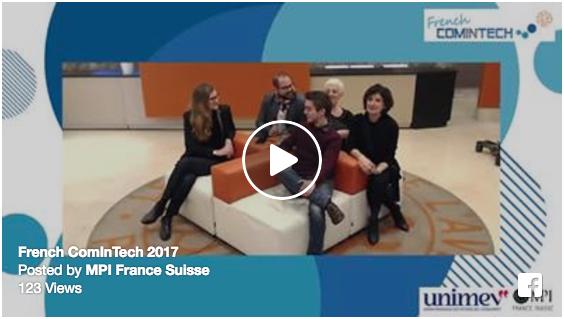 Session Facebook Live pour le lancement de French ComInTech 2017