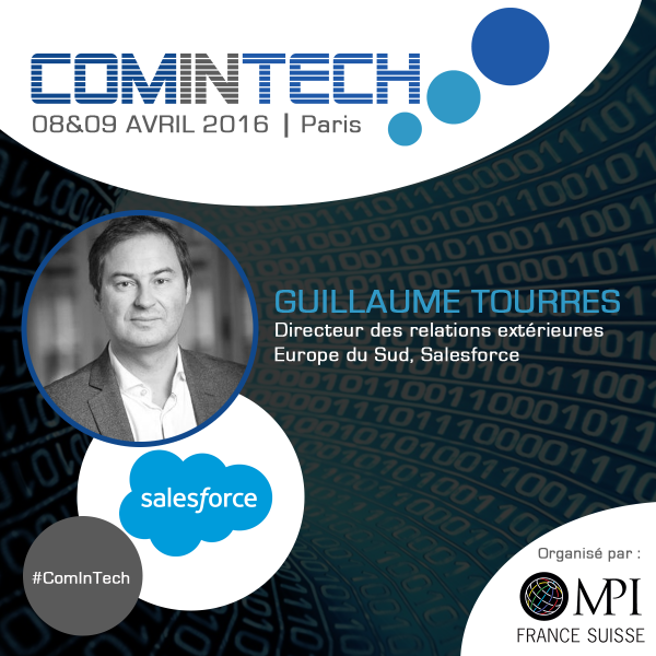Guillaume Tourres, ‎Head of Communication France Southern Europe, interviendra à ComInTech