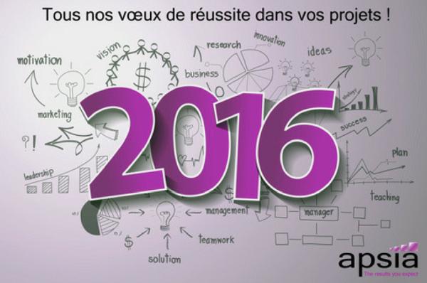 Apsia vous souhaite une très bonne année 2016 !