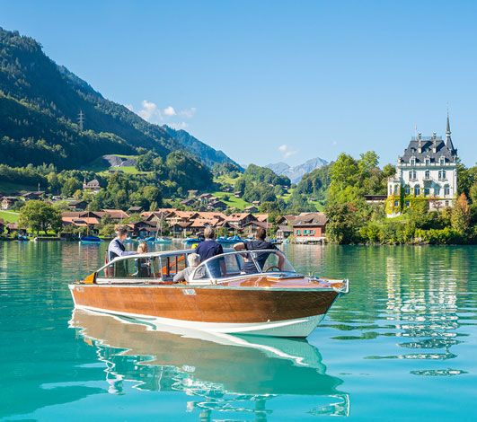 A bord du Donna Anna, un authentique bateau-taxi vénitien…en Suisse !