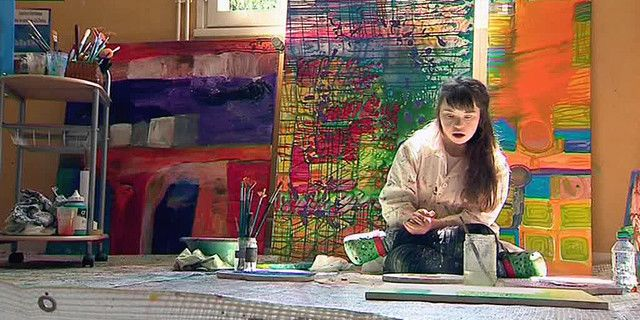 Manon Vichy, artiste pleine de talent malgré son handicap