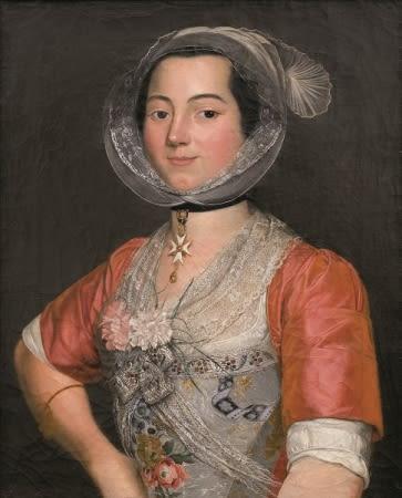 Portrait d'une arlésienne aux œillets d'Antoine Raspal