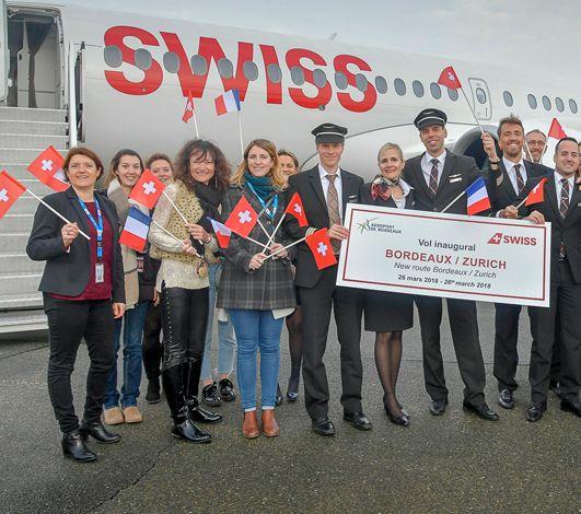 Ca plane pour SWISS à Bordeaux