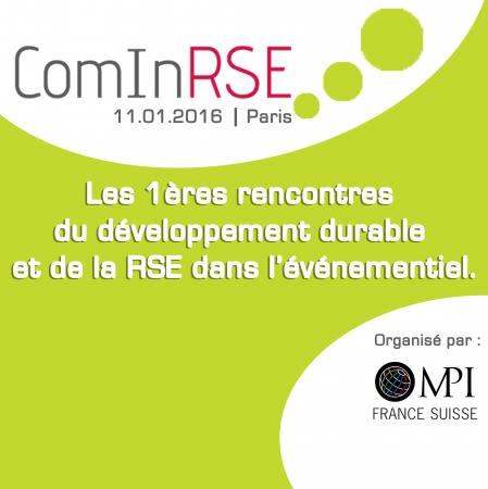 ComInRSE : une journée pour inspirer la Meeting Industry francophone autour de la RSE