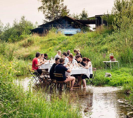 Extreme Dining ou la gastronomie événementielle en pleine nature