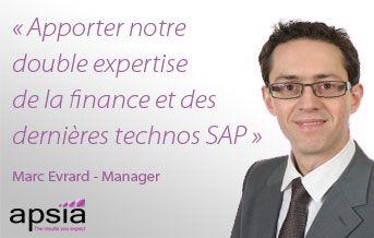 Marc Evrard renforce la ligne de services Apsia ERP SAP
