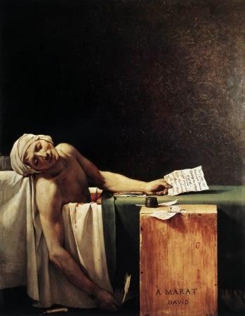 La mort de Marat, de Jacques-Louis David