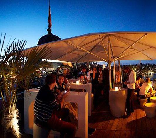 les 8 rooftop bars en suisse conna tre. Black Bedroom Furniture Sets. Home Design Ideas