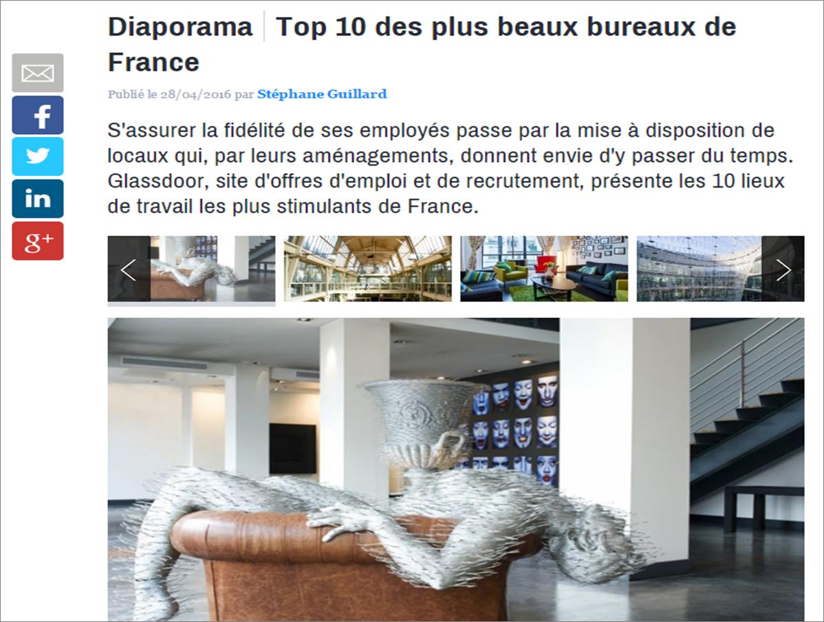 10 plus beaux bureaux de France avec Glassdoor