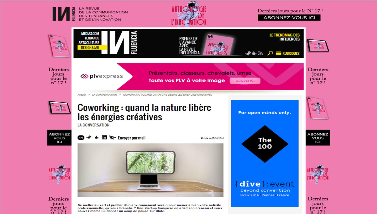 Coworking : quand la nature libère les énergies créatives Wildesk