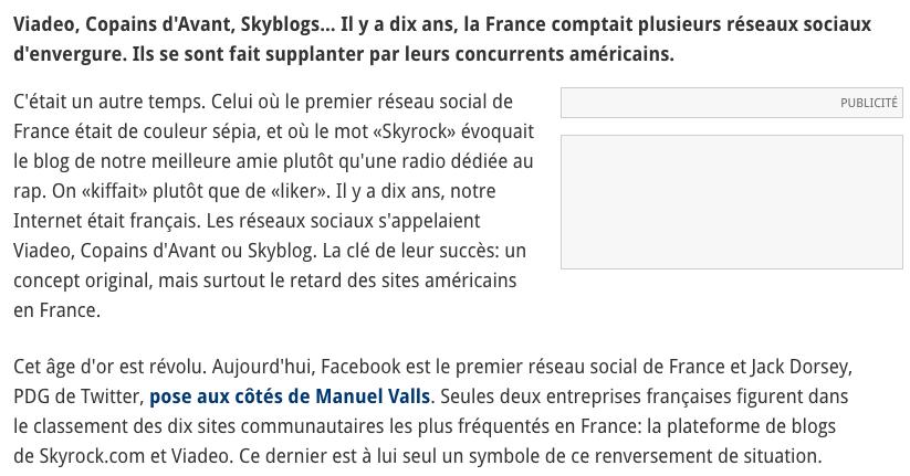 réseaux sociaux français