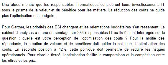 DSI, Cloud