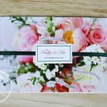 Colourful Blooms Trifold Wedding Invitation