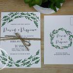 Greenery Rustic Wedding Invitation
