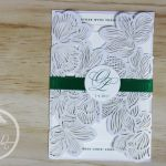 White Lasercut & Emerald Green Wedding Invitation