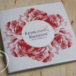 Red & White Roses Pocket Wedding Invitation