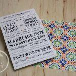 Colourful Mexican Talavera Wedding Invitation
