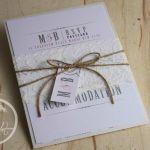 Blush Pink & Ivory Lace Vintage Wedding Invitation