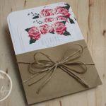 Rustic Roses Vintage Wedding Invitation