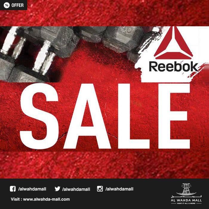 79f0dfe6f Enjoy flat 40% on everything at Reebok, #AlWahdaMall beside gold's gym .  Valid until June 17 2019. #Reebok. Twitter · Facebook