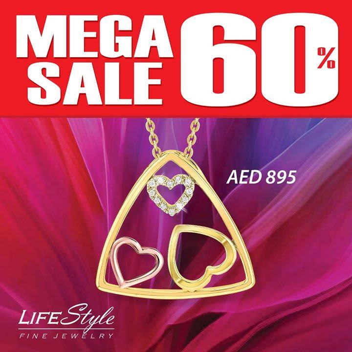 "569b70d665daf ""Mega Sale"" up to 60% discount on Diamond Jewelry at LifeStyle Fine Jewelry  Dalma Mall تنزيلات كبرى تصل إلى 60٪ على مجوهرات الألماس في لايف ستايل  للمجوهرات ..."