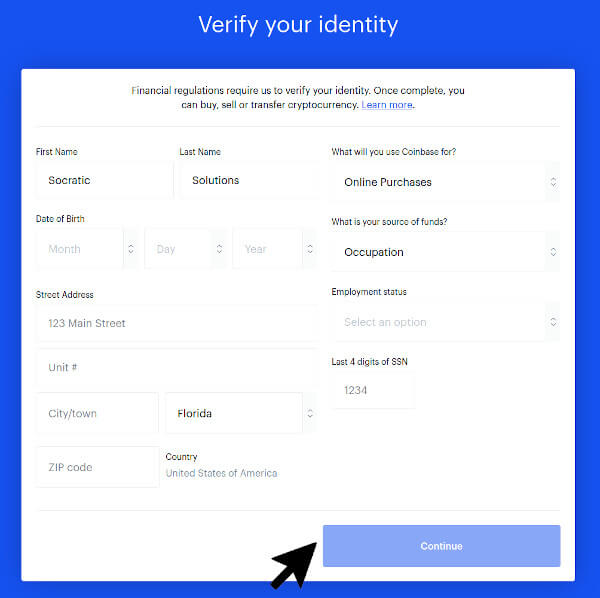 Verify Your Identity With Coinbase