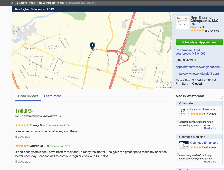 Demandforce Local Page