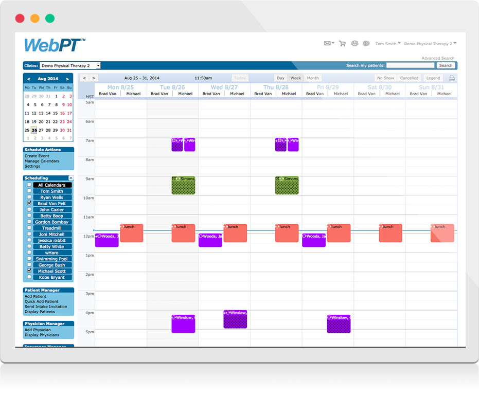 WebPT Integrated Scheduler